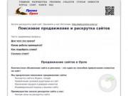 Поисковое продвижение сайтов в Орле - раскрутка сайтов в Орловской области.