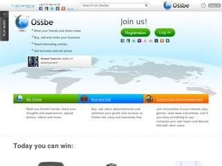 Оссби - социальная платформа нового поколения. Это общение, тематические группы, блоги, бизнес и развлечения, собранные на одном ресурсе.