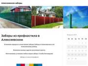 Заборы из профнастила в Алексеевском (Россия, Татарстан, Чистополь)