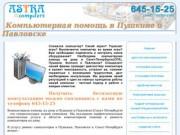 Компьютерная помощь в Пушкине и Павловске.