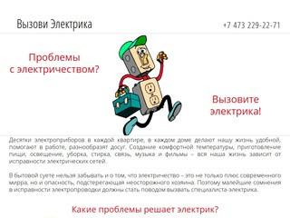 Вызов электрика в Воронеже