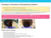 Колодцы в Коломне и Коломенском районе под ключ: копка, чистка