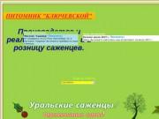 Питомник Ключевской г Шадринск. Саженцы Урала