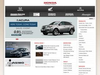 American Honda Motor Co - официальный сайт бренда