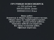 Грузчики Новосибирск (Россия, Новосибирская область, Новосибирск)
