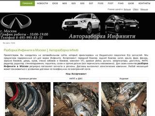 Разборка Инфинити в Москве | Авторазборка Infiniti