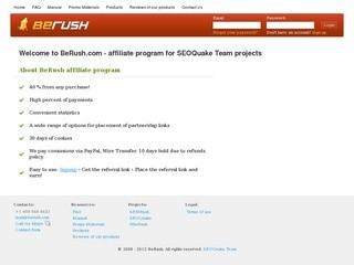 BeRush.com - affiliate program for seo and web services