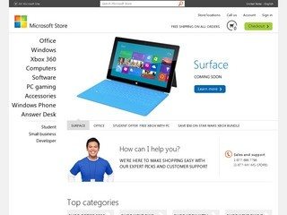 Microsoft Store Online (Find a complete catalog of games, computers, downloads for Windows 7, and more)