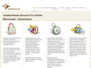 GoldenFeeds Service For Online (Merchants / Advertisers)