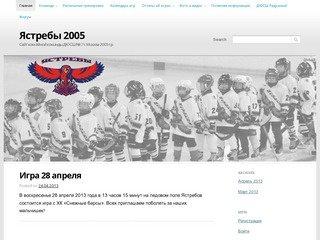Ястребы 2005 | Сайт хоккейной команды ДЮСШ № 7 г. Москва 2005 г.р.