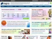 Reg.ru - регистратор доменов (во всех зонах РФ, RU, COM, NET и др.)