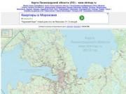 Всеволожск на карте Ленинградской области