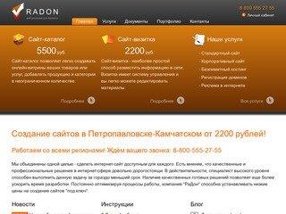 Создание сайтов в Петропавловске-Камчатском от 2200 рублей!