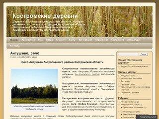 Костромские деревни