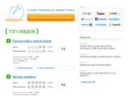 """""""Obed29.ru"""" - Сайт про места, где можно пообедать (Северодвинск)"""