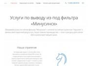 Услуги по выводу сайта из-под фильтра Яндекс «Минусинск»