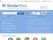 SimilarSites.com - Easily Find Similar Websites (Discover the best websites and alternatives on the web. SimilarSites.com helps you find related sites and topics similar to the ones you love)(