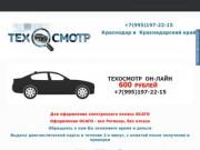 Техосмотр в Краснодаре — Пройти техосмотр 550 рублей