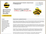 Домашний Интернет Билайн (Северодвинск, Архангельск)